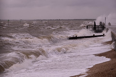 Angry Thames. (daveknight1946) Tags: essex chalkwell southend storm riverthames waterlots