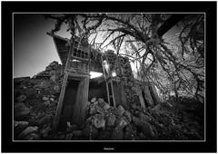 Abandoned, Isla de La Palma, Canary Islands (Bartonio) Tags: bw canaryislands ir islascanarias lapalma puntagorda sonya7ir abandonado abandoned blanconegro infrared laowa1018mm45 modified ruin ruina structure architecture