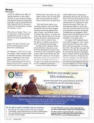 Judicial Watch Jan 2020 Verdict 4 (Judith E. Bell) Tags: junk mail elderly elderabuse predatory scam spam fake fundraiser charities