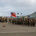 Conducts a pass in review during HMH-463 Change of Command  on Marine Corps Air Station, Kaneohe Bay