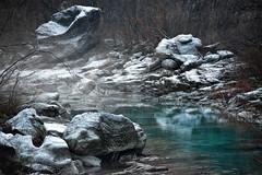 Frozen creek (Arunte) Tags: arunte marcofrancini nikonz7 toscana italia valdilima torrente lima appennino acqua ghiaccio inverno nebbia europe