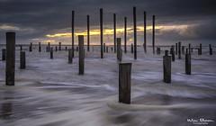 Storm in Petten (Wim Boon Fotografie) Tags: canoneos5dmarkiii canonef1635mmf4lisusm leefilternd09softgrad storm springtij nederland netherlands natuur nature petten beach noordzee sunrise