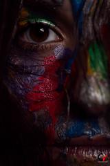 Dark and colorful. Dark gaze. (Carlos Velayos) Tags: retrato portrait mujer woman chica girl color colorful colorido strobist mirada gaze