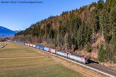 2020.01.12 | 370 024-9 | Pöckau (Davee91) Tags: pkp cargo vectron zug intermodal italy poland trenuri vlaky vlak vonatok austria tarvisio villach