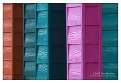 Colours, Saltburn. (ScudMonkey) Tags: copyrightc2020 paulbradley colours saltburn abstract beachhuts paint vintagelens tokina sfx70210f456sd panasonic gx9 urban