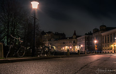 Empty Night Streets (Fredrik Lindedal) Tags: streetview street streetvision streetlight nikon night nightshot nightlights nightphoto nightfall nightshoot nightclouds alone bicycle city c cityscape cityview clouds gothenburg göteborg sverige sweden lindedal