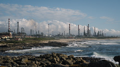 The Story so Far (Stefan Waldeck) Tags: sea water waves chimneys pollution rocks sky clouds theatlanticsea porto portugal 2019 netzki stefanwaldeck stefan waldeck