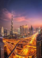 City of Giants (Perez Alonso Photography) Tags: dubai uae sunset bluehour cityscapes landscapes car burjkhalifa skyscraper skyline longexposure lucroit filter