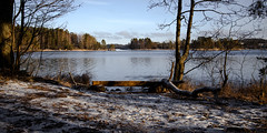 On my travels (A.Koponen) Tags: canon eosr rf24105mmf40 lseries hoya nature canonphotography naturephotography luonto suomenluonto lake sky winter snow ice day bench