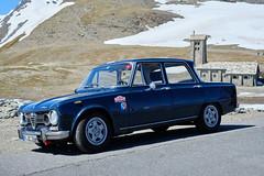 Alfa Romeo Giulia Nuova Super 1600 (RIch-ART In PIXELS) Tags: france savoie alfaromeo bonnevalsurarc hautesalpes coldeliseran chapellenotredamedetouteprudence auvergnerhônealpes mountain snow montagne landscape neige mountainpass xt20 fujifilmxt20