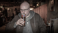 Pinting at the pub. (CWhatPhotos) Tags: cwhatphotos flickr artistic art photographs photograph pics pictures pic picture image images foto fotos photography that have which with contain olympus omd em1 mk ll micro four thirds 43 camera portrait pub pubs drink man male shadow light fosters lager pint glass