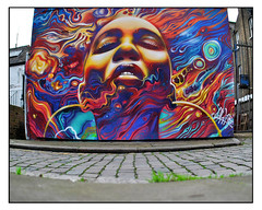 LONDON STREET ART by JIM VISION (StockCarPete) Tags: jimvision streetart londonstreetart urbanart graffiti londongraffiti lowpov cobblestones pavement face visage london uk wallart