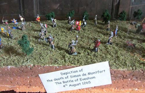 Model of the Battle of Evesham, Almonry Museum, Evesham, England