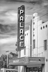 Saw a Movie at the Palace in 1968 (Thomas Hawk) Tags: america marfa palacetheater palacetheatre presidiocounty texas usa unitedstates unitedstatesofamerica bw neon neonsign theater fav10 fav25