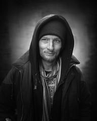 Dee (mckenziemedia) Tags: man portrait portraiture face hood coat street streetphotography chicago city urban homeless homelessness people humanity
