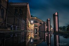 Gothenburg Night (Fredrik Lindedal) Tags: reflection reflections city cityscape cityview clouds nikon night nightshot nightphoto nightfall nighshoot water puddle puddlegram gothenburg göteborg sweden sverige lindedal