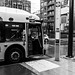 Nose of a New Flyer XDE60 Starting the TransLink Rapidbus R4 Route in Tri-X 400