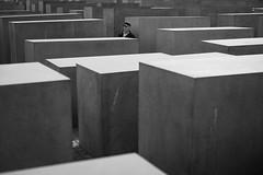 Alone (michael.mu) Tags: berlin leica m240 50mm leicasummilux50mmf14ii blackandwhite bw holocaustmemorial streetphotography