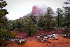 Foggy day in Sedona (irmur) Tags: sedona arizona usa red rocks snow fog