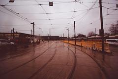 TTC Russell Yard (A Great Capture) Tags: russellyard radial railway streetcar rocket yard ttc toronto transit commission clrv overcast rain rainy mist fog