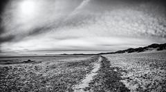 Harlech Beach, Snowdonia National Park. Wales, UK (Bone Setter) Tags: harlech wales snowdonia national park beach blackwhite voightlander 15mm heliar f45