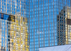 Inside Out (Karen_Chappell) Tags: reflections glass steel windows travel building architecture lasvegas usa city nevada urban abstract reflection blue yellow lines rectangle geometry geometric canonef24105mmf4lisusm