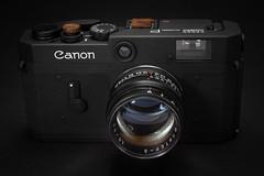 Canon P w/Jupiter-3 (Edd Noble) Tags: cameraporn filmcamera canonp jupiter3 russianlens jupiter50mmf15ltm canonpblackpaint customcamera macro nikkor55mmf35macropreai sonya7ii lightpainting
