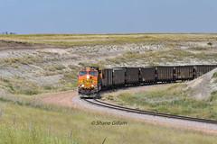 Loading at the loop. (Shane692) Tags: bnsf burligrton ge coal railroad railfanning railroads railfans rails rail row railroading wyoming wy sky summer