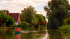 essai impressionnisme 7 (pierre.pruvot2) Tags: hautsdefrance pasdecalais saintomer clairmarais côtedopale panasonic lumixg9 eau canal channel water canoe pagayeurs pont bridge arbres trees