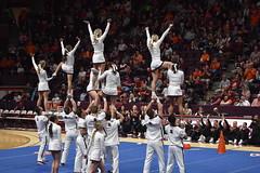 HOKIE CHEERLEADERS (SneakinDeacon) Tags: cheerleaders virginiatech hokie vatech cassellcoliseum accbasketball basketball