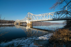 East Haddam (3) (tquist24) Tags: connecticut connecticutriver easthaddam easthaddamswingbridge hdr newengland nikon nikond5300 outdoor blue bridge geotagged morning outside reflection reflections river sky water ice icy