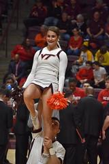 CHEERIN' FOR THE HOKIES (SneakinDeacon) Tags: cheerleaders vatech vt virginiatech hokies accbasketball cassellcoliseum