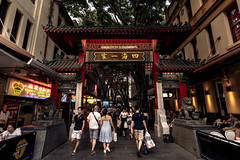 Chinatown Arches (Photos By Dlee) Tags: sonyalphaa7iii sonya7iii sonya73 sony sonyalpha mirrorless fullframe fullframemirrorless sonyfe1635mmf28gm sony1635mmf28 wideangle ultrawideangle uwa zoom photo photosbydlee photography australia sydney newsouthwales nsw summer landscape urbanlandscape cityscape sunset buildings architecture