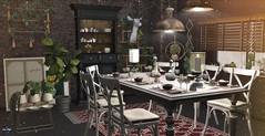 A special dinner! (♛Sara Meifs♛) Tags: serenitystyle contrast decor decoration secondlife virtual game virtuallife dinner plants