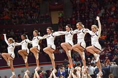 HOKIE CHEERLEADERS (SneakinDeacon) Tags: cheerleaders hokies virginiatech vt vatech cassellcoliseum