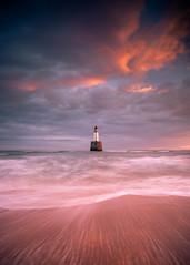 Rattray Head Lighthouse (PeskyMesky) Tags: rattrayhead lighthouse aberdeenshire scotland landscape longexposure water sea sunrise sunset movement sky sand beach canon canon5d eos