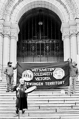 Solidarity Victoria (tyson_laidler) Tags: victoriabc doublex eastman5222 35mm analog monochrome moviefilm cinema demonstration legislature britishcolumbia canada