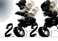 year 2020 cartoon (handren khoshnaw) Tags: 2020 cartoon poster handren khoshnaw smoke pollution disease