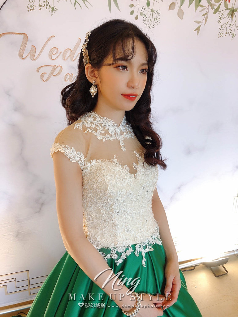 【新秘羽寧 】bride佳芸 訂結婚造型 / 短髮新娘造型變化