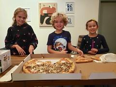 Cousins Eating Pizza At Finback (Joe Shlabotnik) Tags: finback brewery everett october2019 queens galaxys9 pizza violet cameraphone isabellem 2019 glendale