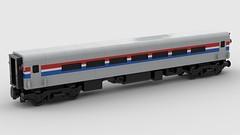 LEGO Amtrak Horizon Coach (wildchicken_13) Tags: wildchicken13 lego amtrak horizon coach car wagon passenger train moc phase iii