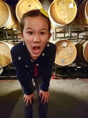 Isabelle At Finback (Joe Shlabotnik) Tags: queens galaxys9 brewery finback 2019 october2019 isabellem barrels cameraphone glendale
