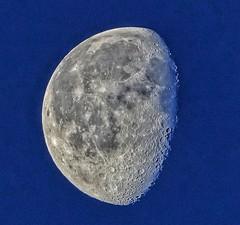 Waning moon (74 %) (ruedigerdr49) Tags: moon blue sky planet nature astro fantasticnature