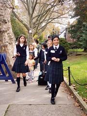 Heading To Lillian's After School (Joe Shlabotnik) Tags: galaxys9 2019 violet amina sophiem october2019 cameraphone