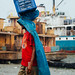 Stevedore Carrying Frozen Fish, Dhaka Bangladesh