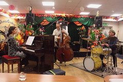 Zoe Rahman Trio (2020) 04 (KM's Live Music shots) Tags: jazz greatbritain unitedstates zoerahman alecdankworth genecalderazzo eastsidejazzclub leytonstoneexservicemensclub