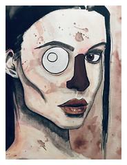 Bianca... (LukeDaDuke) Tags: biancakmiec paint painting painted paintings portrait gouache draw drawing handdrawn illustration illustrator illustrate illustrators instagram instagrammodel instagrammodels