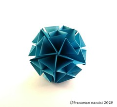 Sponge (mancinerie) Tags: origami paperfolding papiroflexia papierfalten francescomancini mancinerie modularorigami kusudama geometry dodecahedron