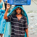 Longshoreman Carrying Frozen Fish, Dhaka Bangladesh