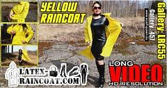 GalleryLRC55 (Tamara silkscarf) Tags: rainwear raincoat rainclothes vintagerainwear regenjacke regenjas agu agusport aguraincoat scarfqueen womenraincoat girlsraincoat yellowraincoat